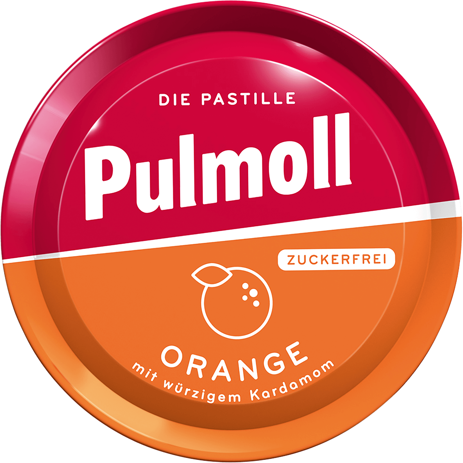 Pulmoll Hustenbonbon Orange Dose